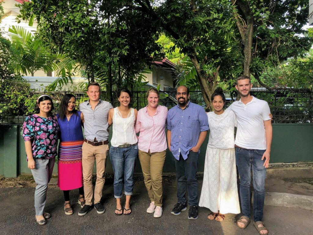 Tyler A. Lehrer with international colleagues at the AILS Colombo Centre (Summer 2018)
