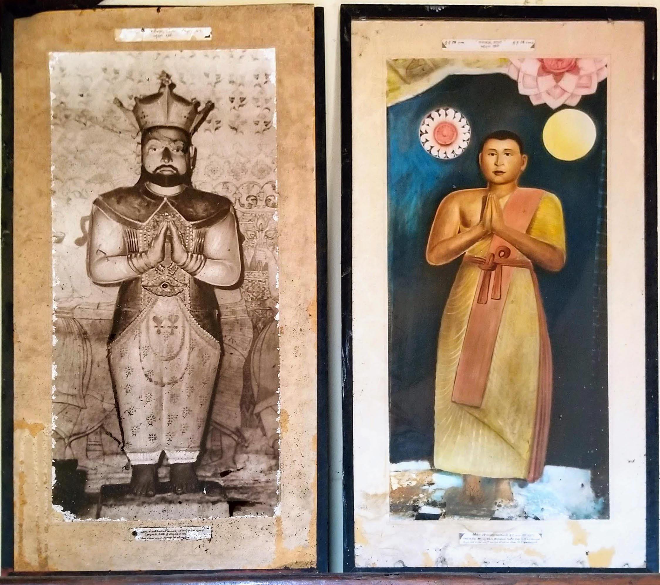 Buddhist temple portraits of Kīrti Śrī and Saraṇaṅkara
